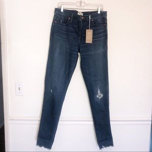 "MADEWELL 9"" High Rise Skinny with Raw Hem"